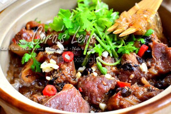 豆豉嫩骨粉丝煲的做法