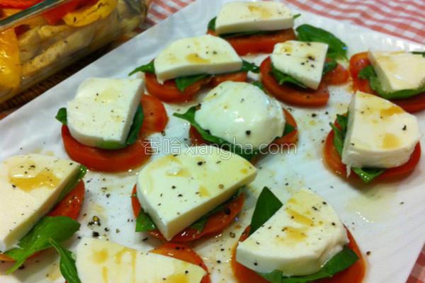 番茄起司沙拉的做法