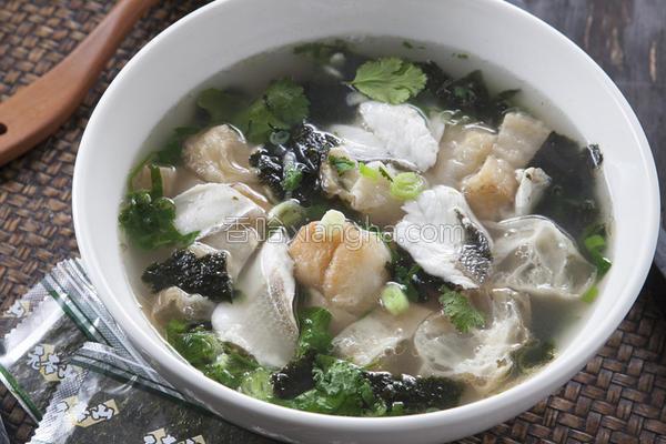 海苔鱼片汤的做法