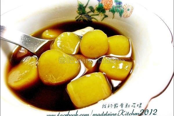黑糖姜汁地瓜圆的做法