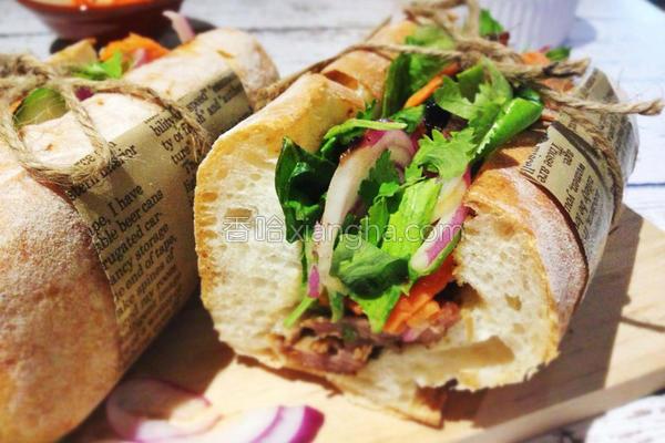 越南烤肉三明治的做法