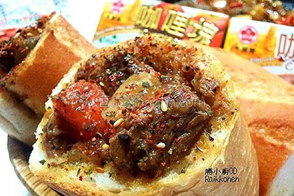 牛肉咖哩酱堡的做法