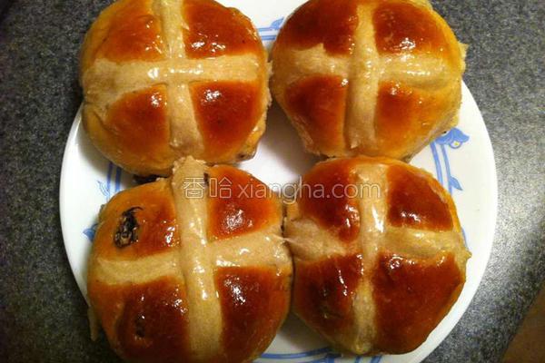 復活节热十字面包的做法