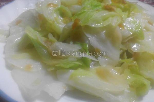 油葱炒高丽菜的做法