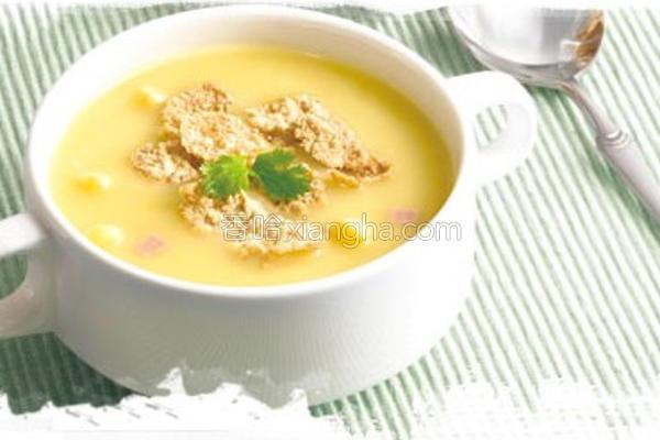 玉米脆片汤的做法