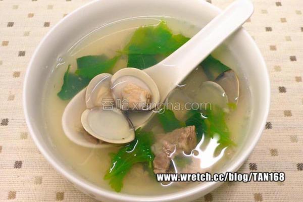 芹菜叶蛤蜊汤的做法