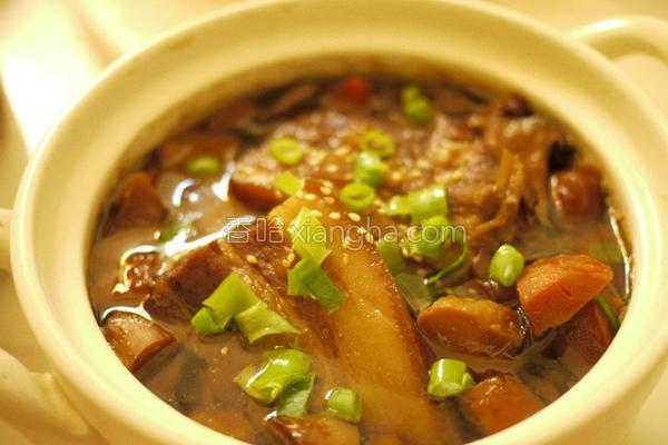 鲍菇笋丝卤焢肉的做法