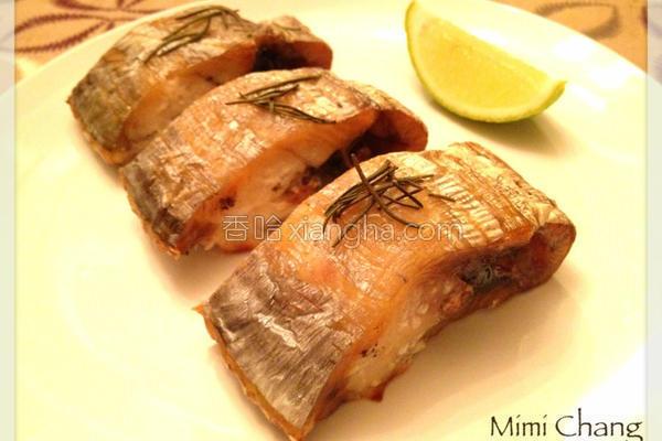 迷迭香烤白带鱼的做法