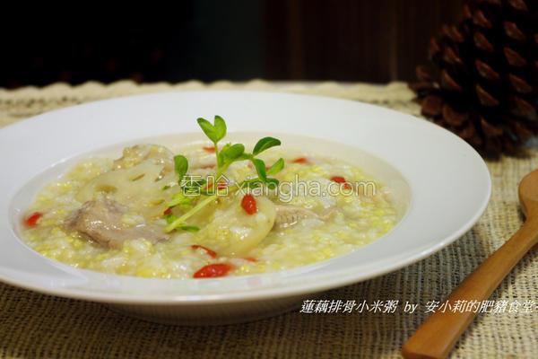 莲藕排骨小米粥的做法