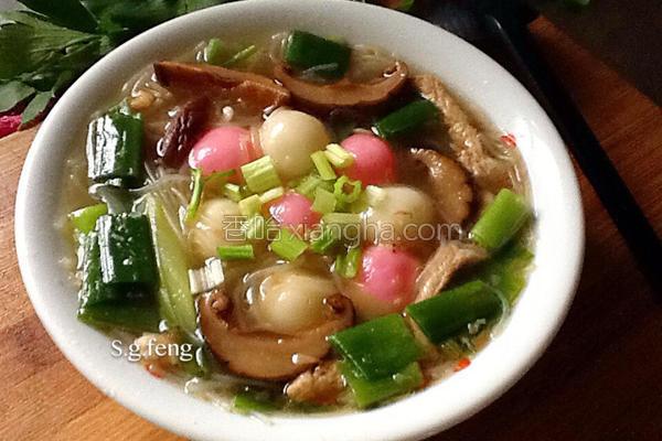 汤圆米粉汤的做法