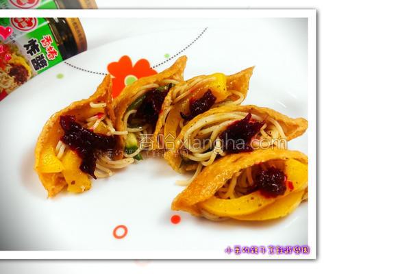 香椿黄金豆包的做法