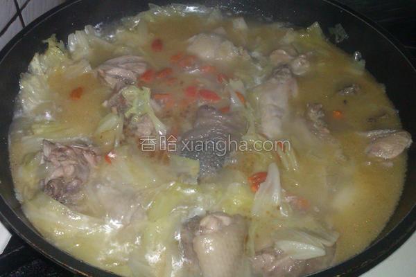 高丽菜麻油鸡汤的做法