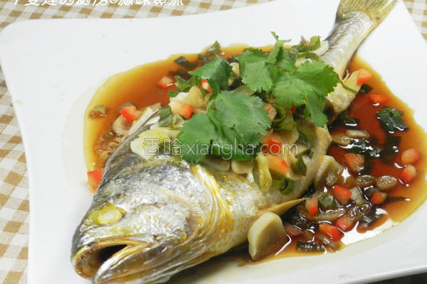 蒜味黄鱼的做法