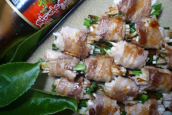 鲜味葱肉卷的做法
