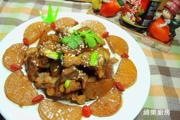 红烧萝卜炖肉的做法