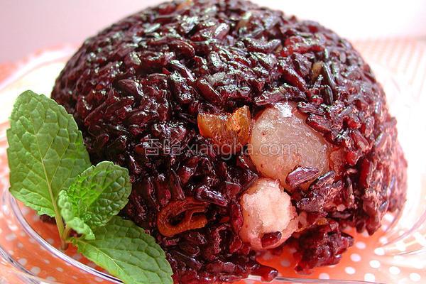 甜甜紫米糕的做法