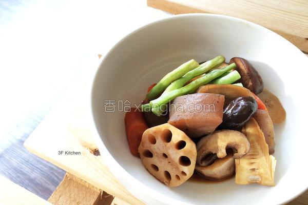 蔬食筑前煮的做法