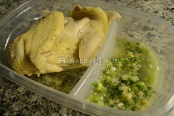 港式葱姜油淋鸡的做法