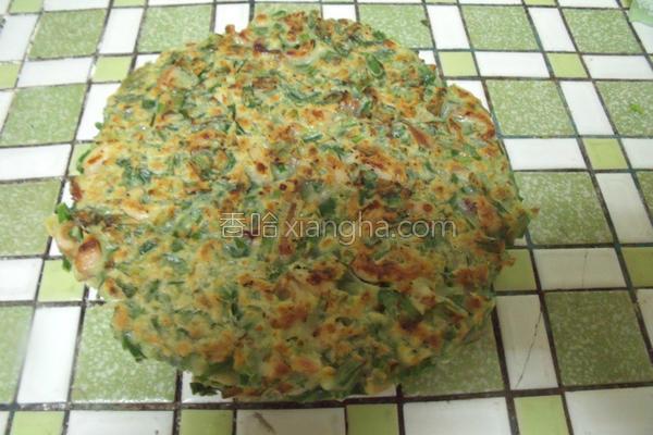 韭菜鱿鱼煎饼的做法