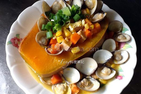 南瓜盅蛤蛎浓汤的做法