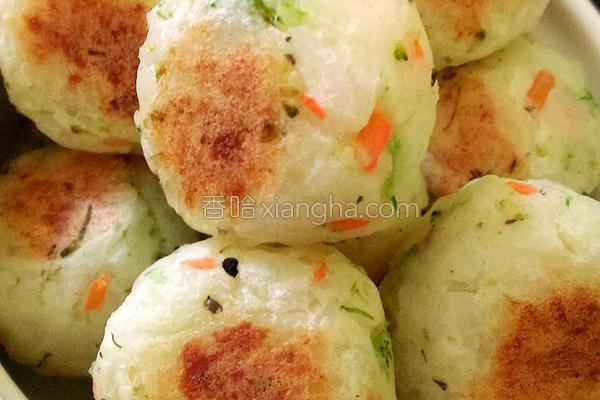 薯泥蔬菜米饭丸子的做法