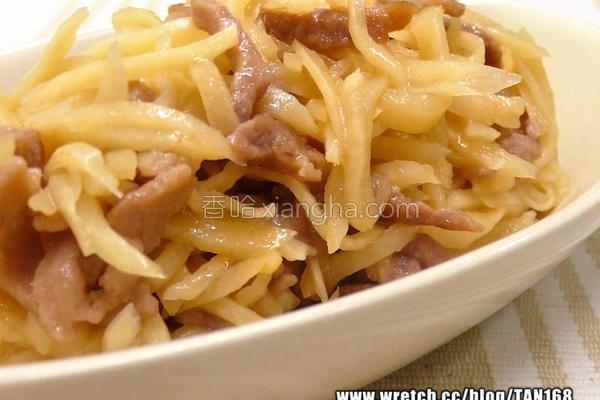 茭白笋炒肉丝的做法