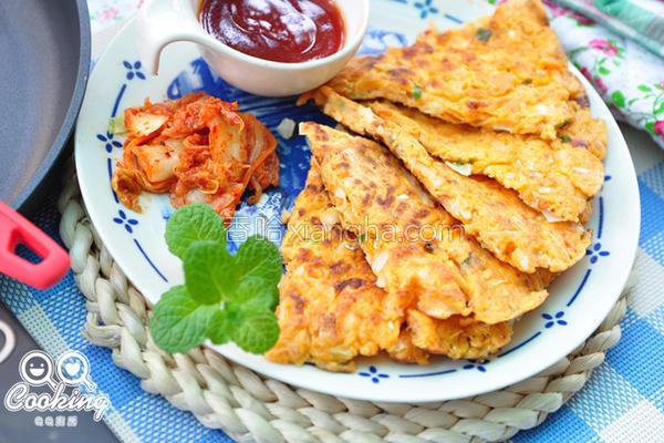 泡菜鲜虾煎饼的做法