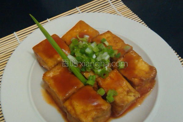 烤糖醋油豆腐的做法