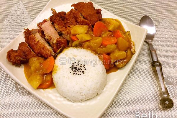 咖喱炸猪排饭的做法