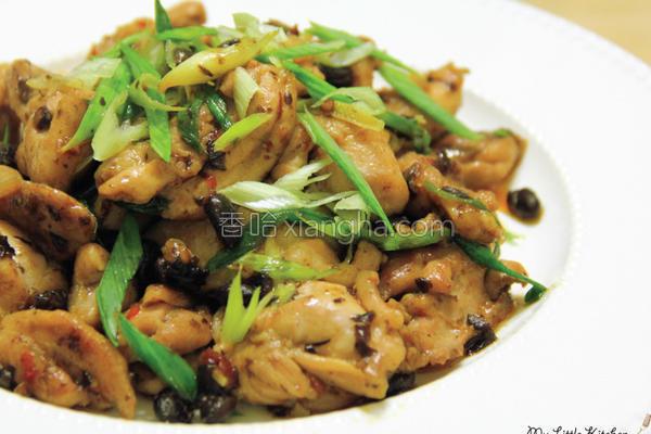 蒜苗豆豉鸡的做法
