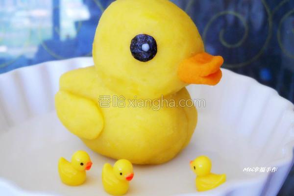 地瓜泥黄色小鸭的做法