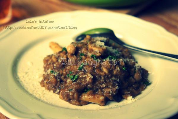 野菇炖饭的做法