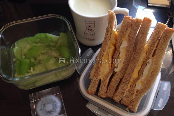 起司蛋三明治的做法