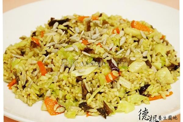 炒姜黄糙米饭的做法