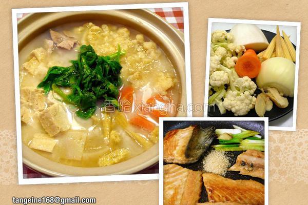 味噌鱼骨火锅的做法