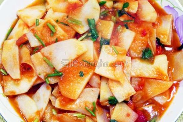 番茄炒马铃薯的做法