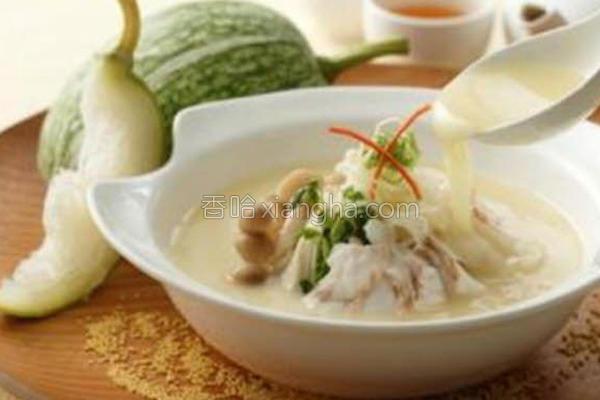 翅瓜米汤浸鱼片的做法
