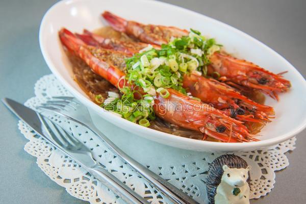 蒜蓉蒸大虾的做法