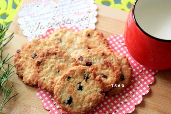 蔓越莓麦片饼干的做法