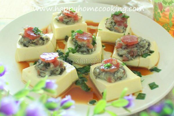 鱼滑腊肠酿豆腐的做法