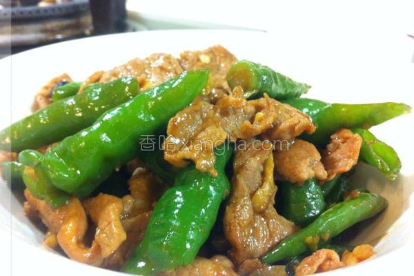 糯米椒炒肉片的做法