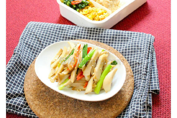 清炒杏鲍菇的做法