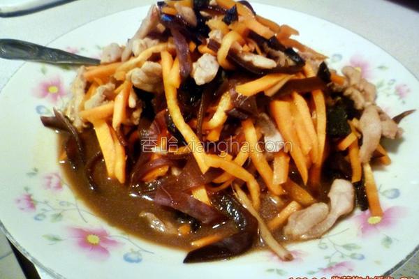 紫苏梅木须肉的做法
