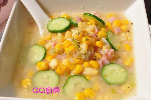 香香玉米浓汤的做法