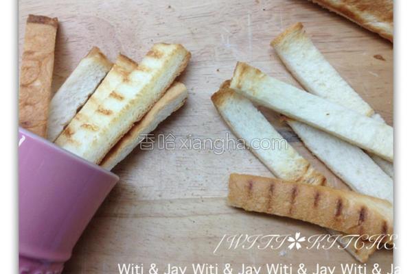 酥烤土司条的做法
