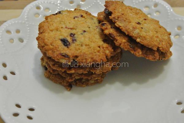 蔓越莓燕麦饼干的做法