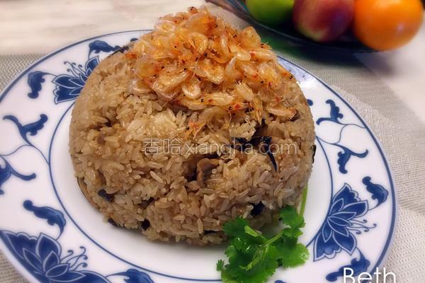 樱花虾油饭的做法