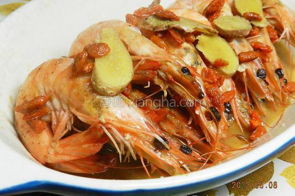 麻油虾的做法
