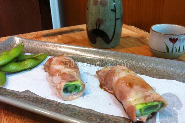 大葱烧肉卷的做法