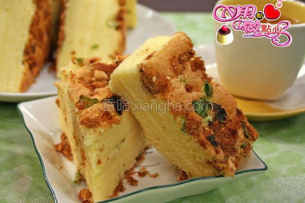 葱花肉松蛋糕的做法